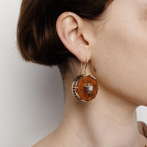 Tempest Earrings - Rust