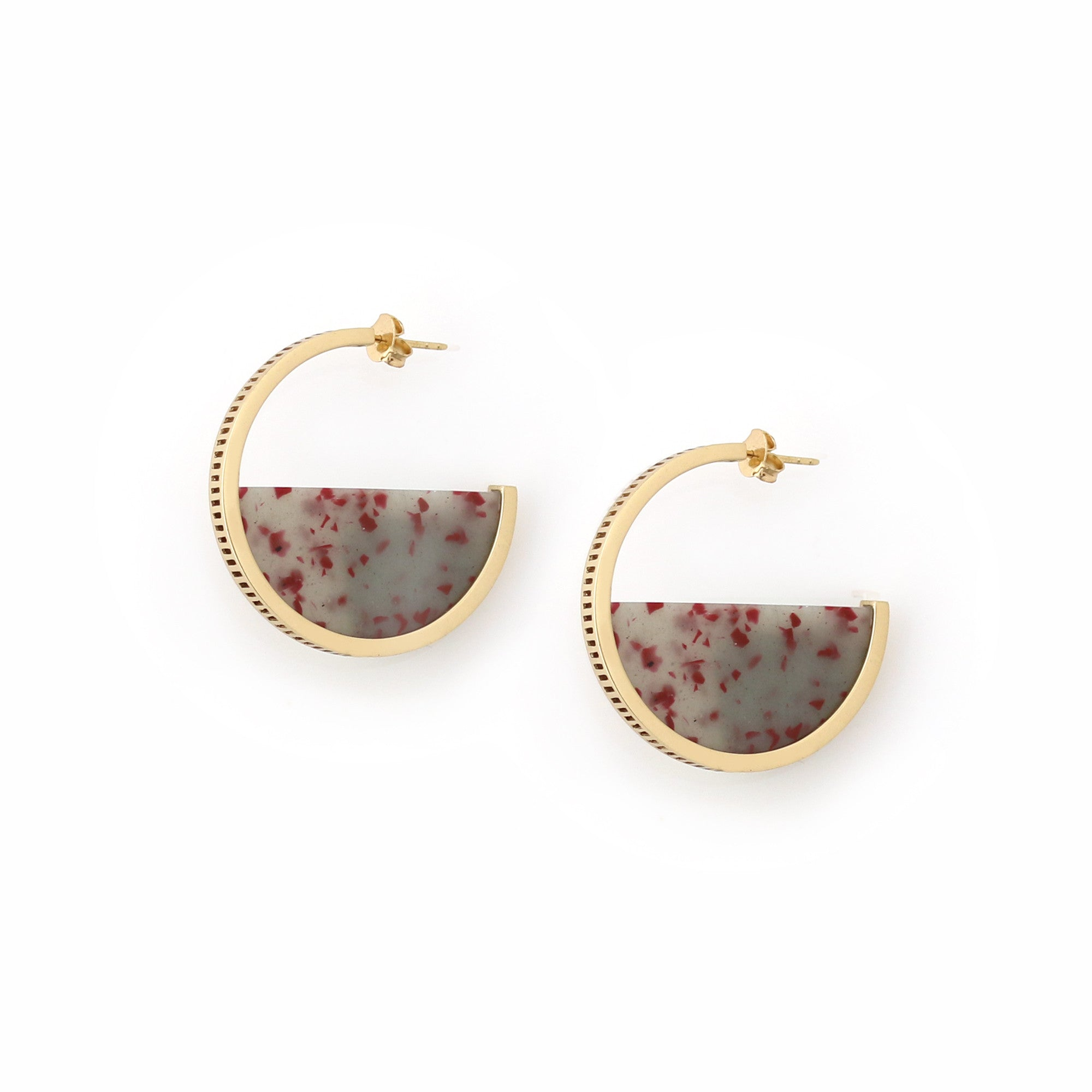 Zenith Hoop Earrings - Eucalypt