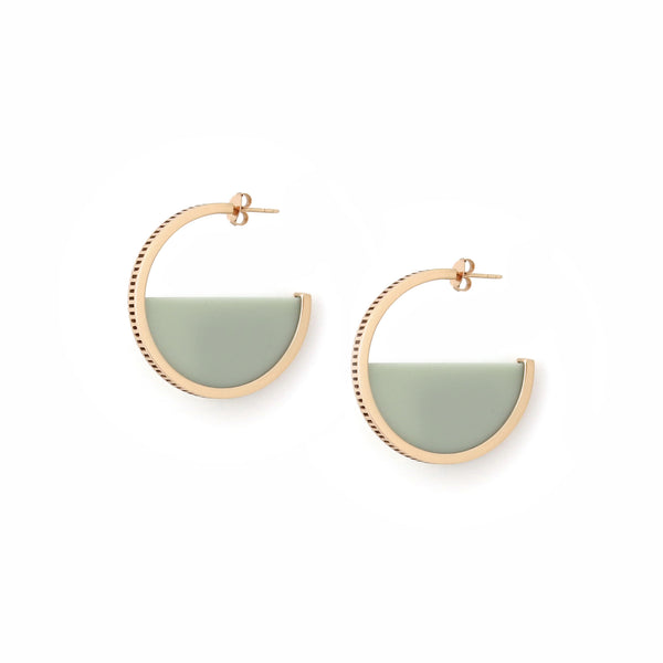 Zenith Hoop Earrings - Sea Mist