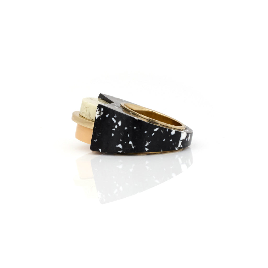 Rapture Ring - Black Granite