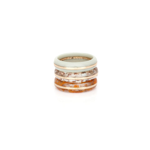 Orbit Ring Stack - Sea Mist