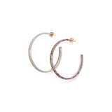 Crescent Hoop Earrings - Stone Marle