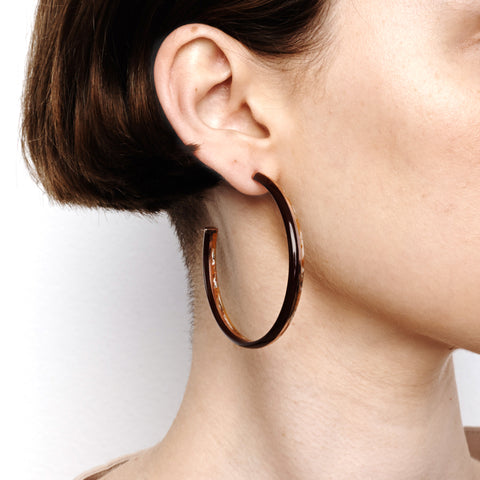 Crescent Hoop Earrings - Shiraz