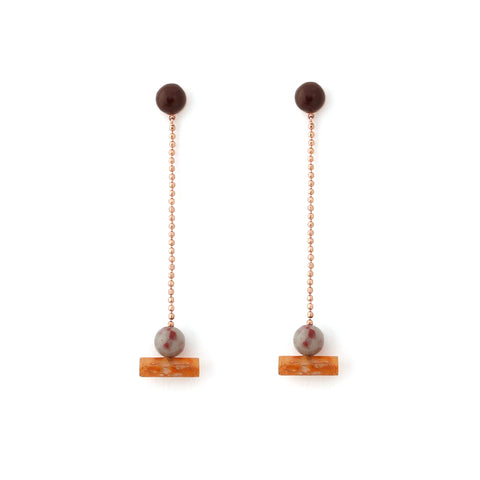Resin Actuality Earrings - Shiraz