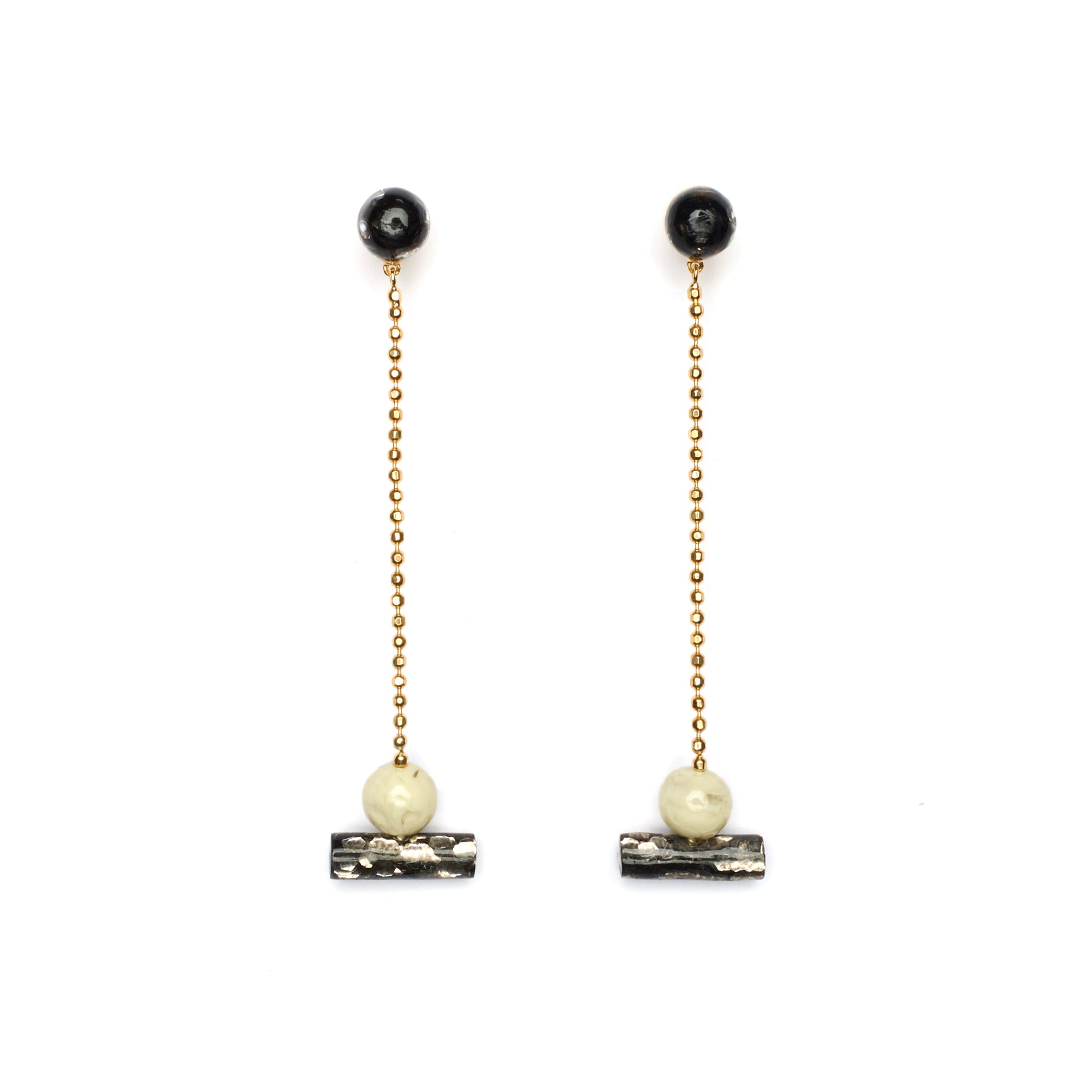 Resin Actuality Earrings -Luxe