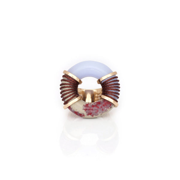 Surge Ring - Blue Laced Agate