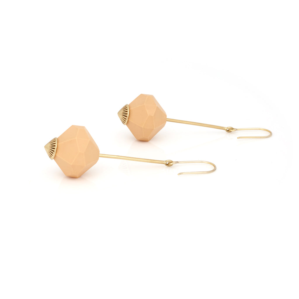 Fallen Curse Earrings - Peach