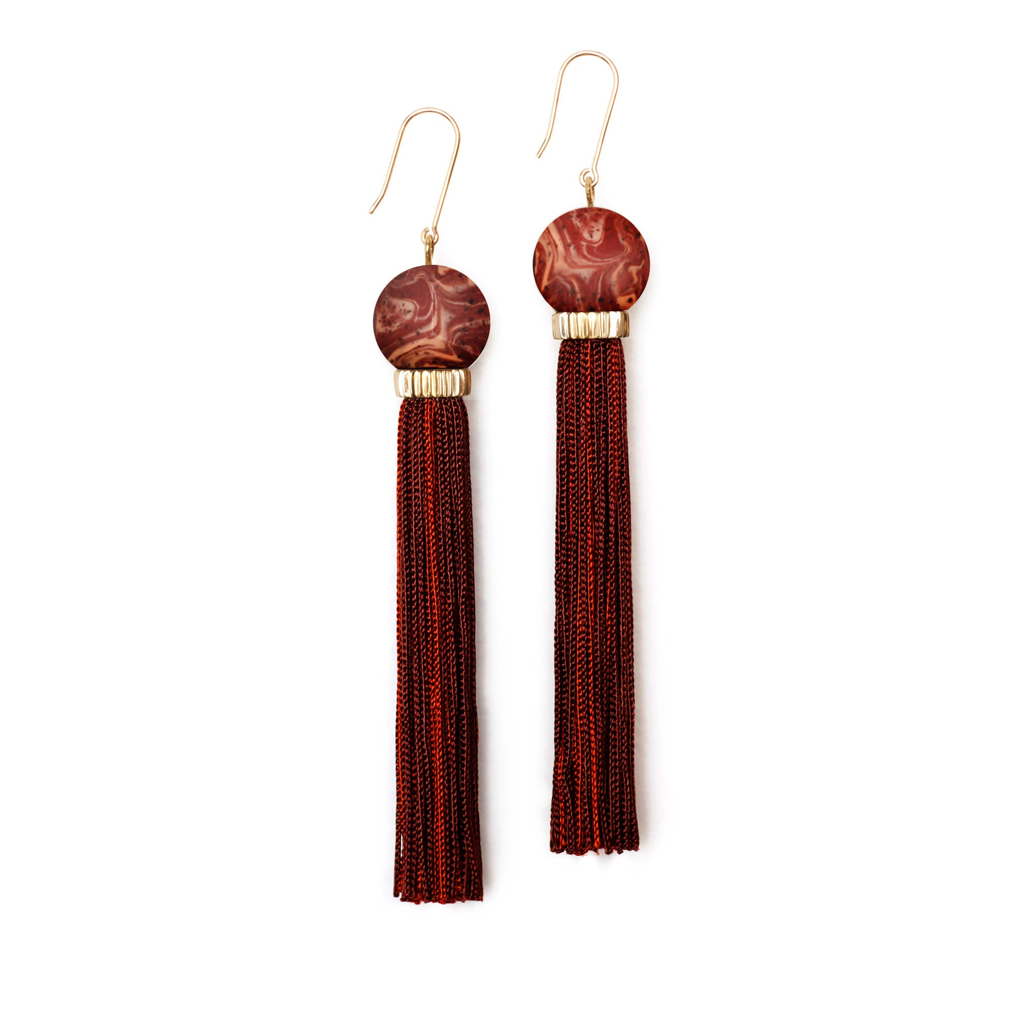 Tremble Tassel Earring - Shiraz