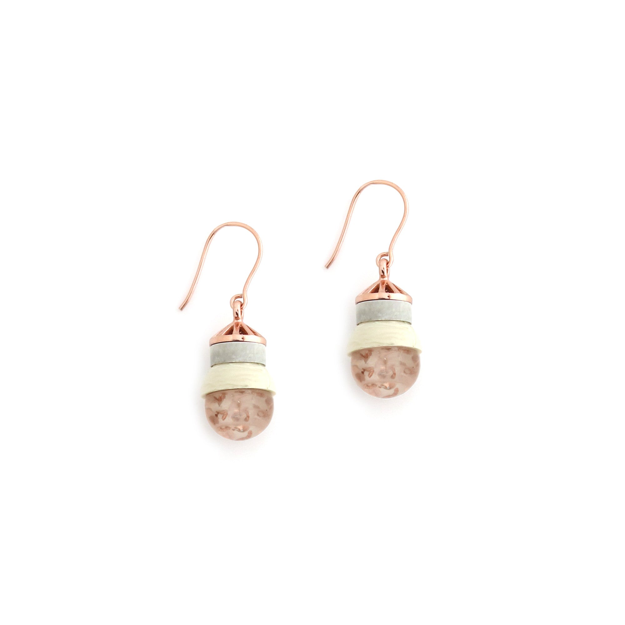Accidental Earrings - Rutilated Quartz