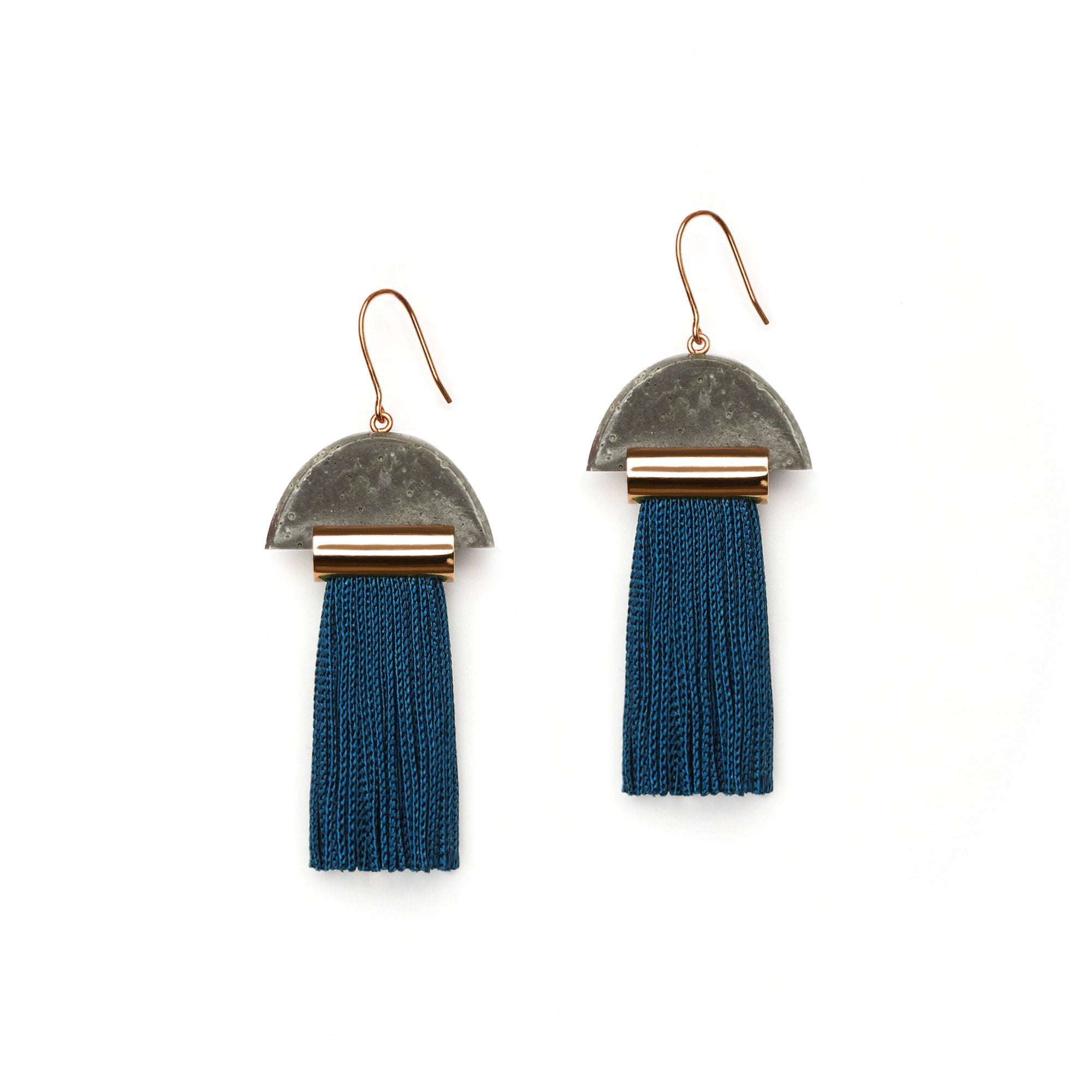 Gravity Tassel Earrings - Steel