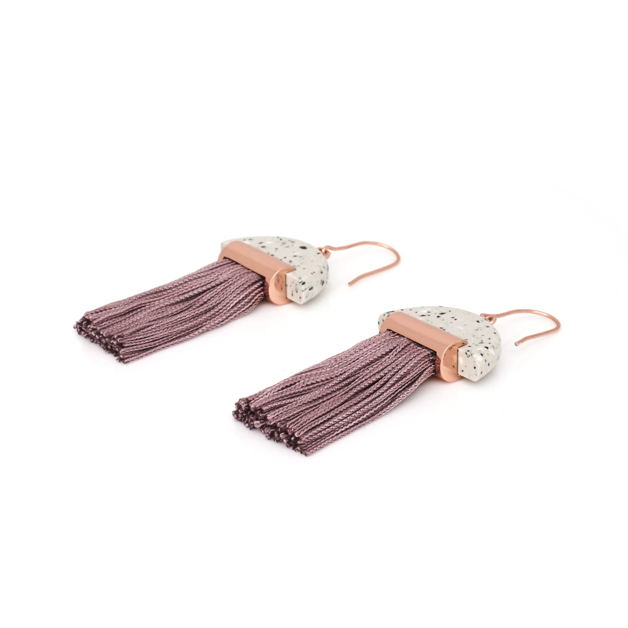 Gravity Tassel Earrings - Ash Dust