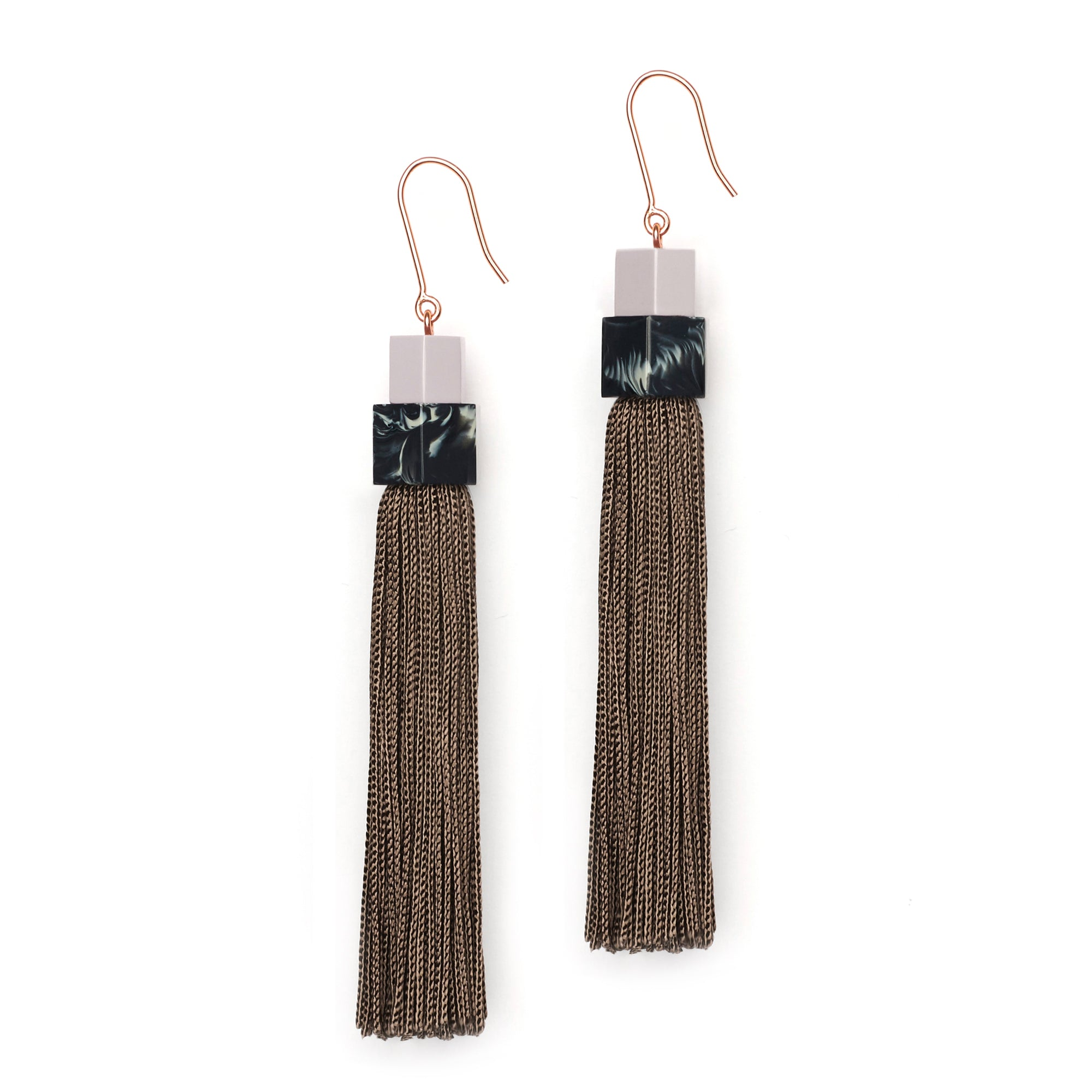 Pendulum Tassel Earrings - Lilac