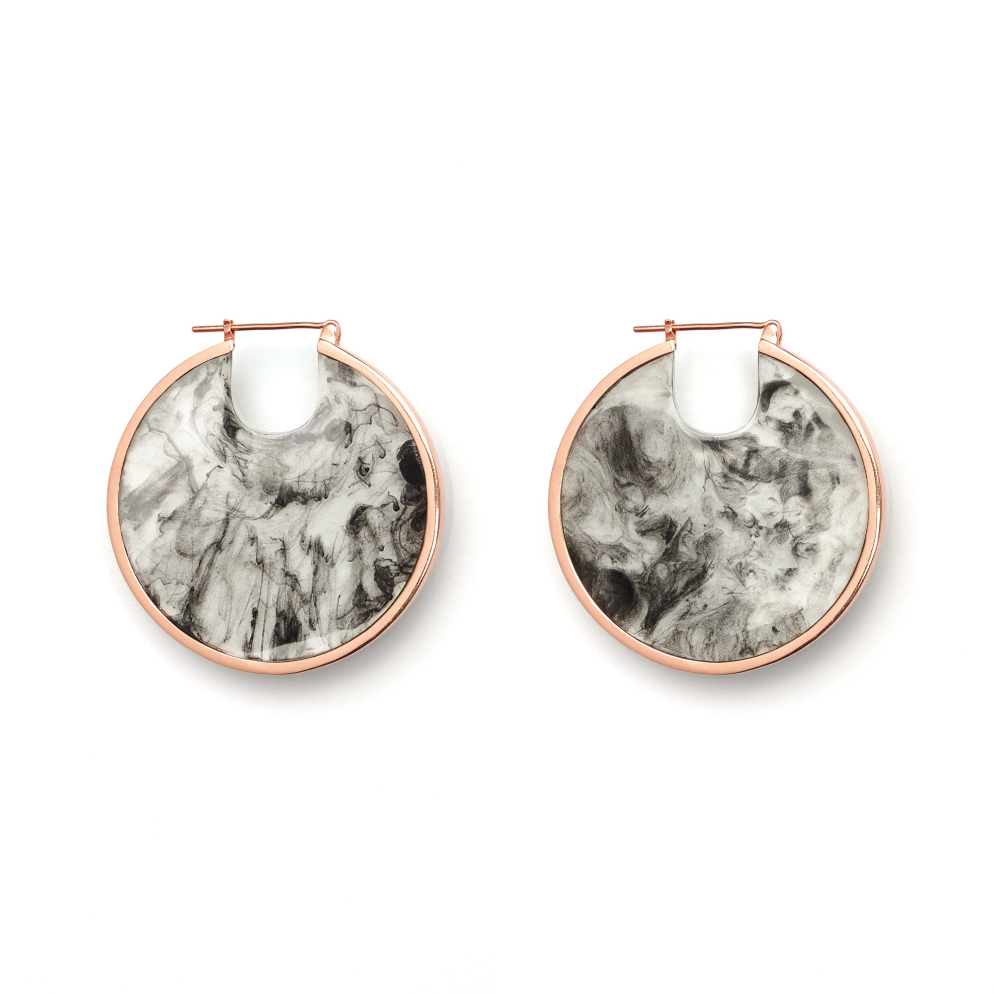 PRE-ORDER // Eclipse Hoop Earrings - Smoke