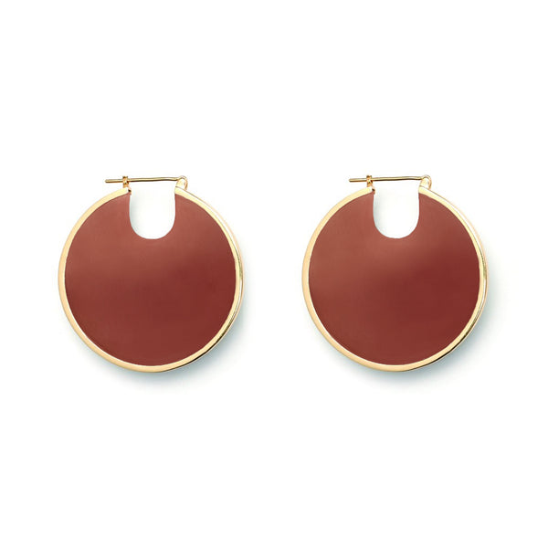 Eclipse Hoop Earrings - Terracotta