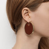 PRE-ORDER // Eclipse Hoop Earrings - Terracotta