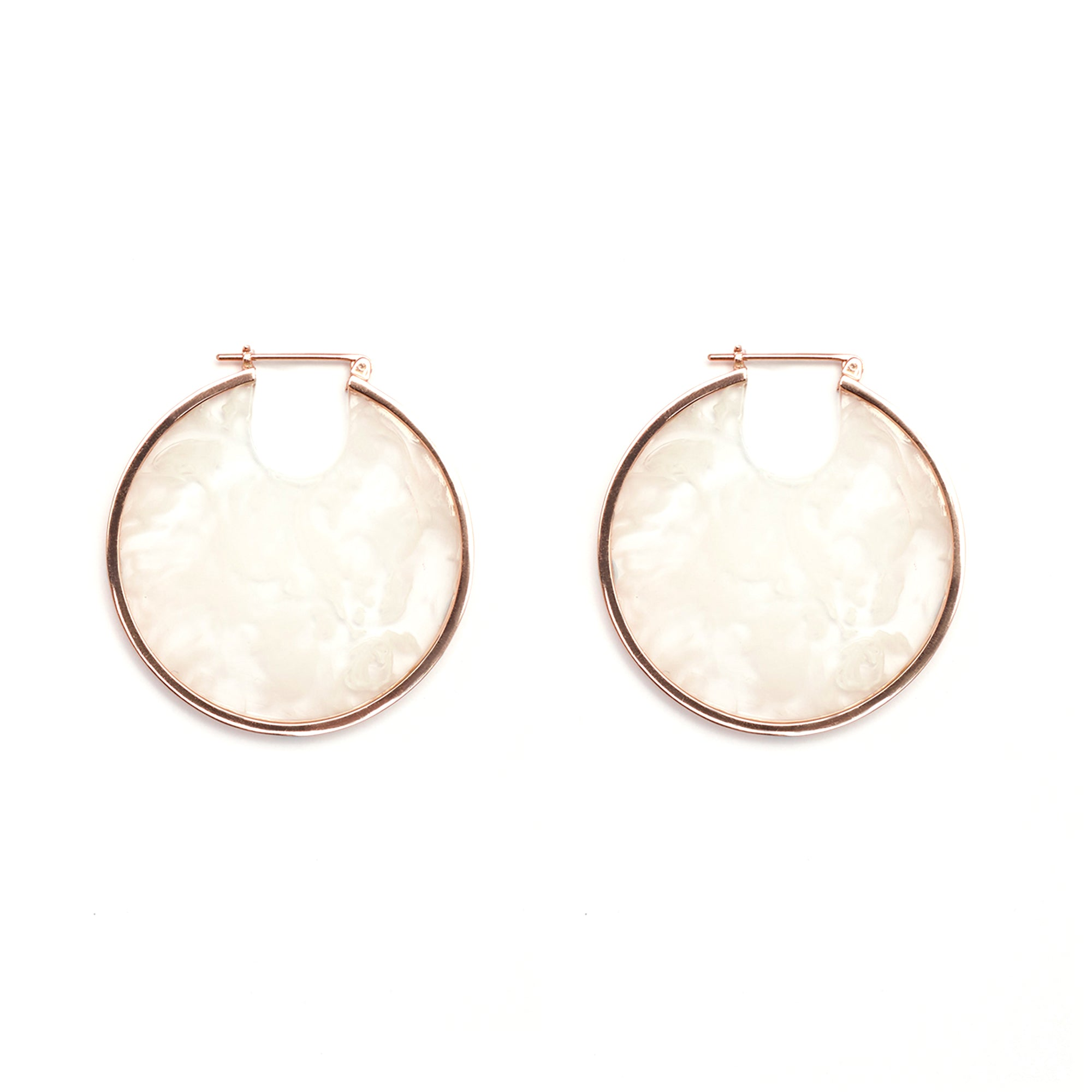 PRE-ORDER // Eclipse Hoop Earrings - White Smoke