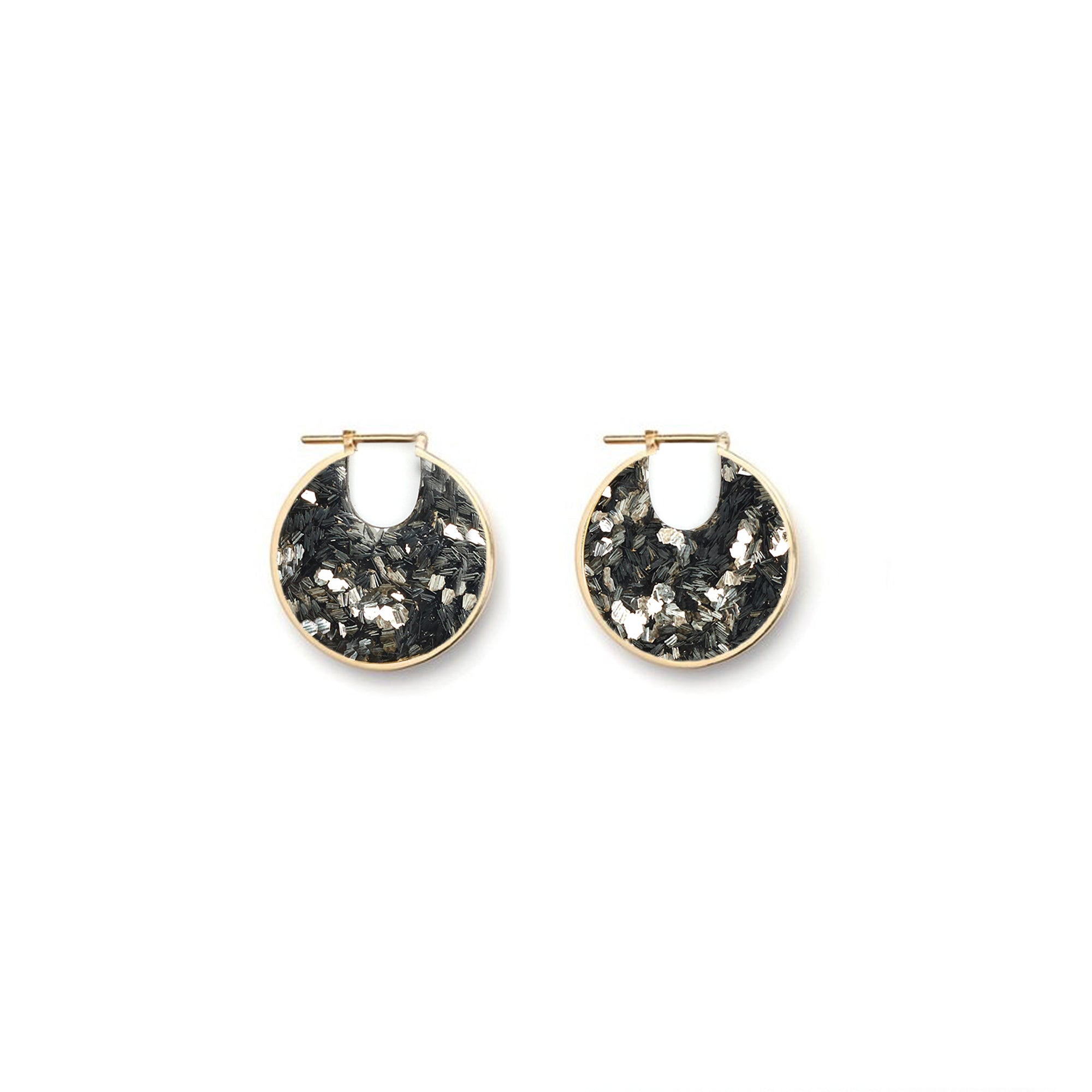 Small Eclipse Hoop Earrings - Luxe