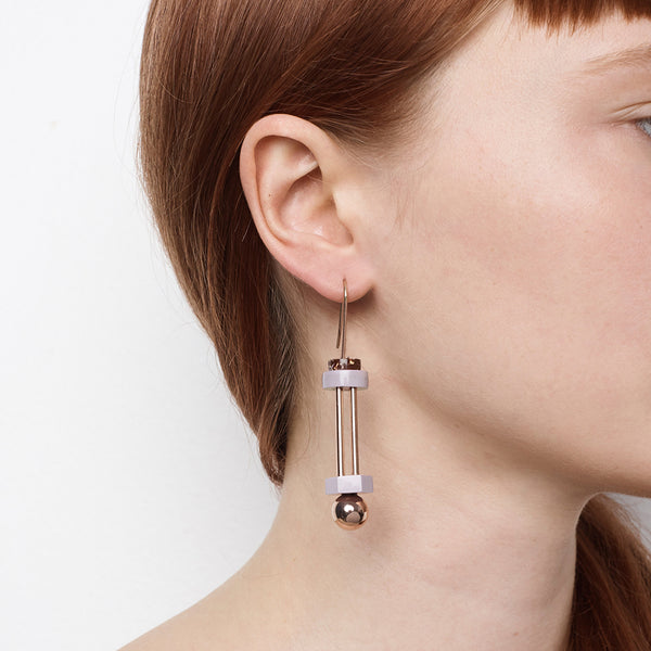 Collision Earrings - Shiraz Granite