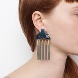 Meridian Earrings - Midnight Jasper