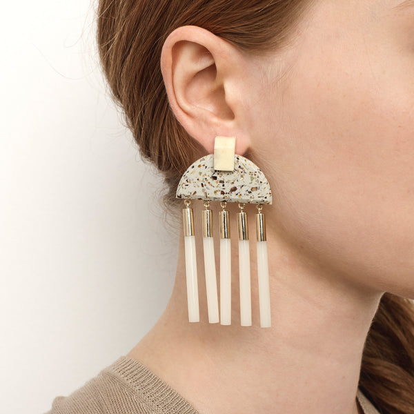 PRE ORDER // Meridian Earrings - Light Granite