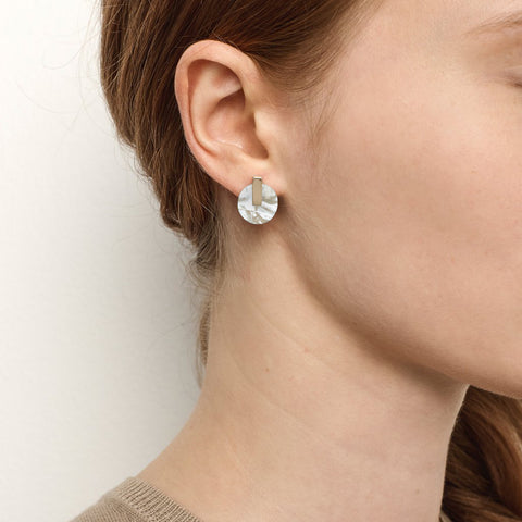 PRE-ORDER // Resonance Studs - Mother of Pearl