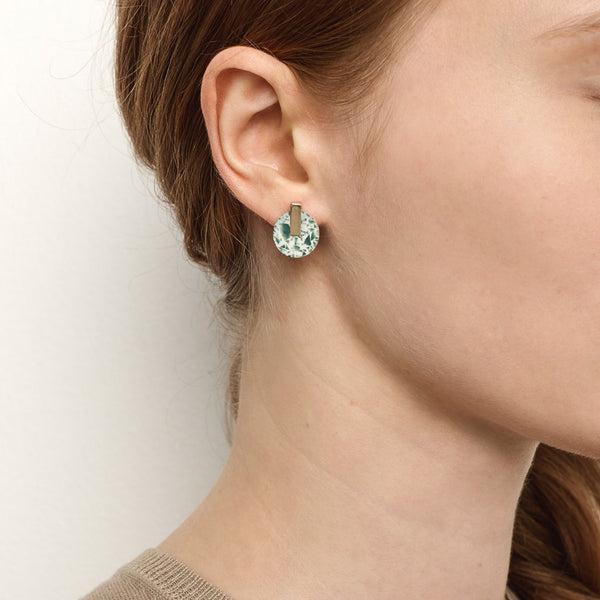 Resonance Studs - China Jade
