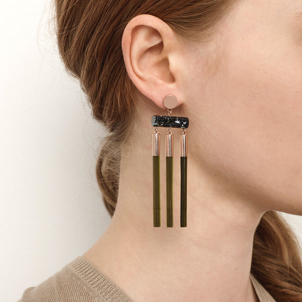 Isotope Earrings - Olive