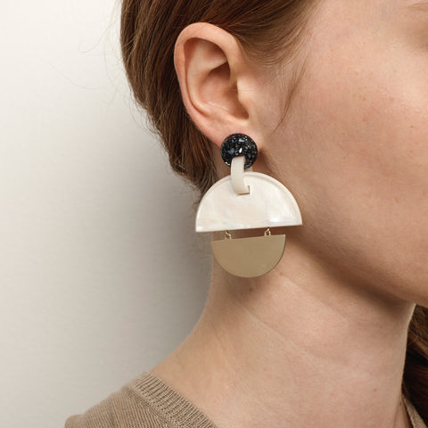 PRE-ORDER // Kinetic Earrings - Mother of Pearl