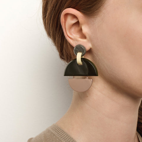 PRE-ORDER // Kinetic Earrings - Olive