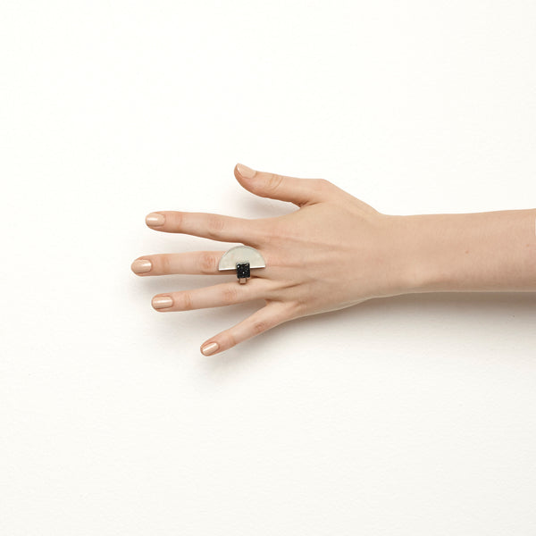 Handcrafted polished brass ring by Studio Elke in Sydney, Australia.