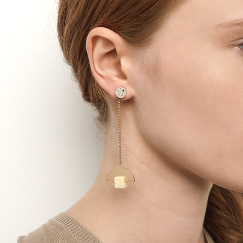 Particle Earrings - Gold
