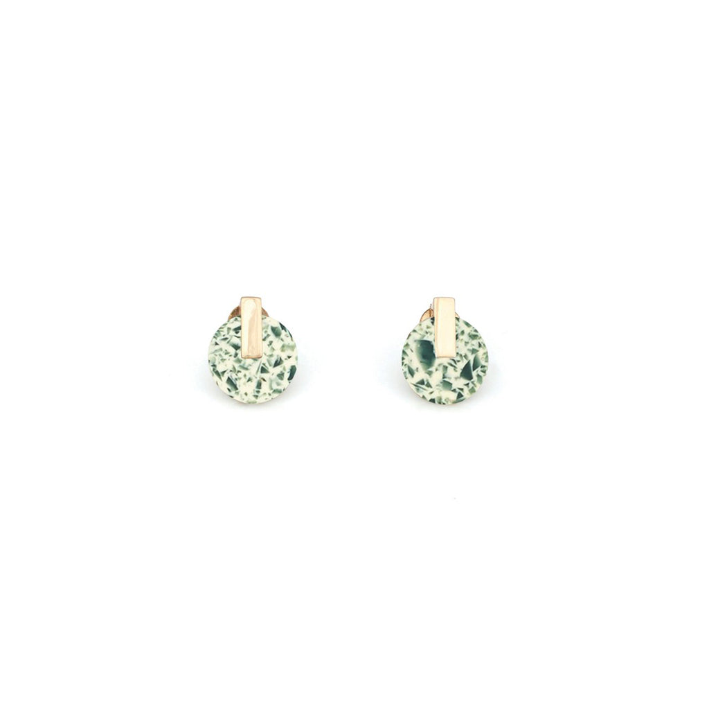 Resonance Studs - China Jade // PRE ORDER