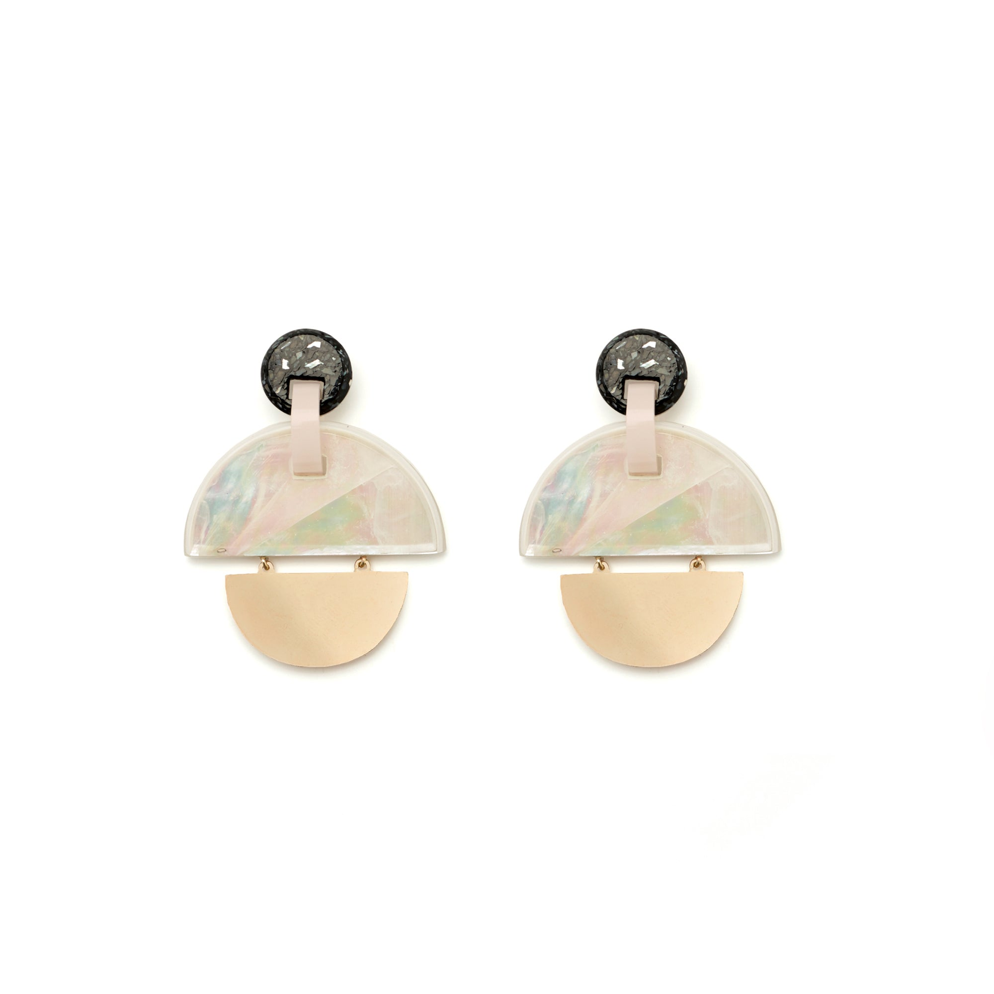Kinetic Earrings - Mother of Pearl