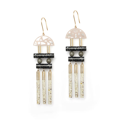 Statement Fashion Earrings with Solid Gold ear hooks.