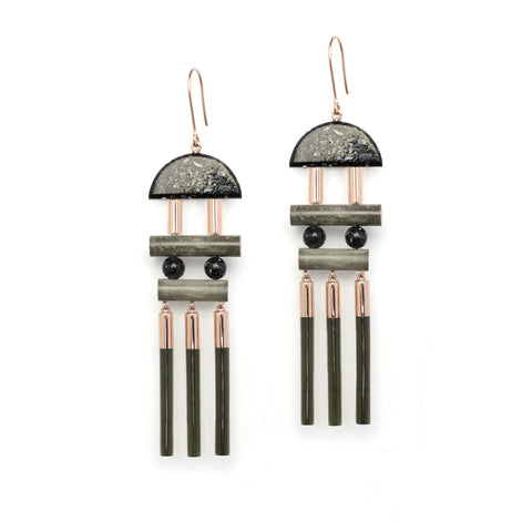 Dramatic Statement Earrings by Studio Elke
