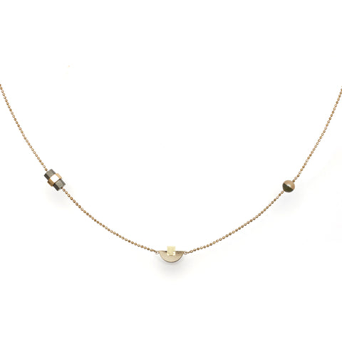 Delicate handcrafted chain necklace by Studio Elke