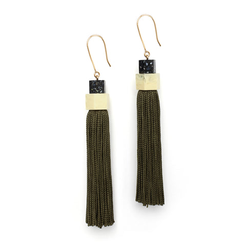 Long Tassel Earrings by Studio Elke.