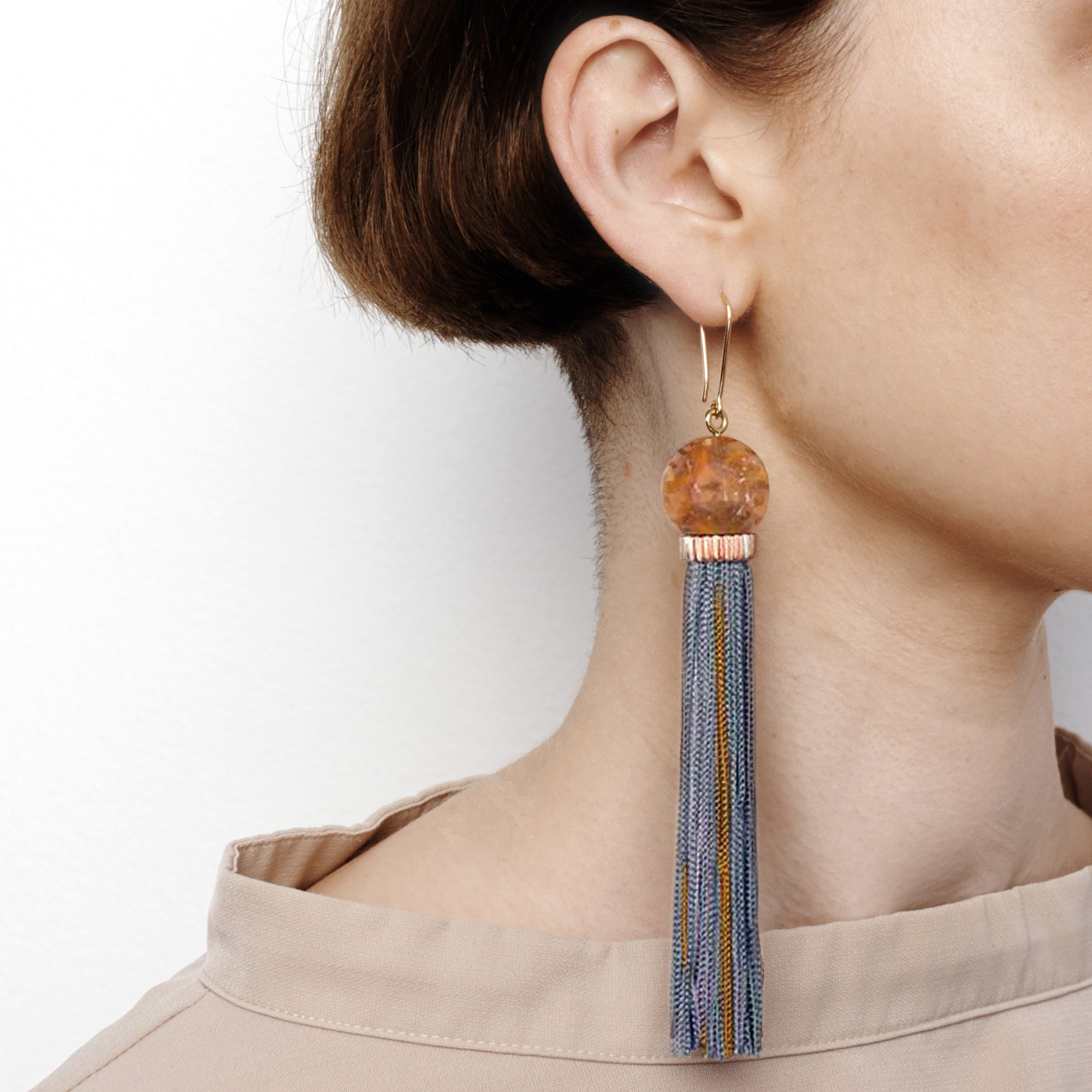 Tremble Tassel Earring - Rust