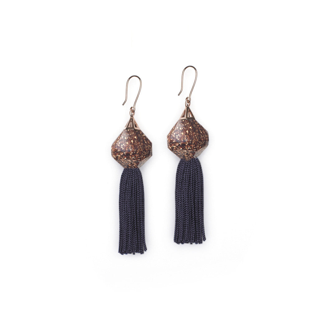 Goldstone Mythical Tassel Earrings