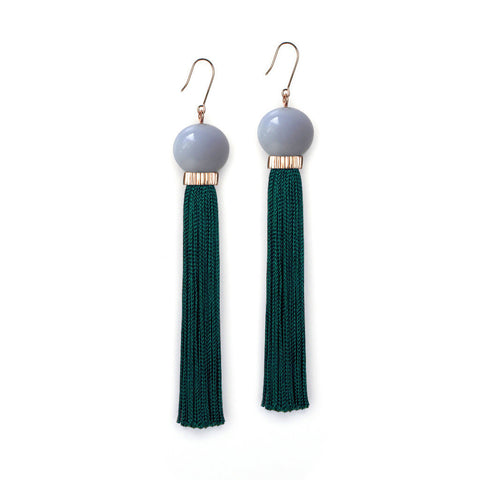 PRE ORDER // Tremble Tassel Earring - Blue Lace Agate