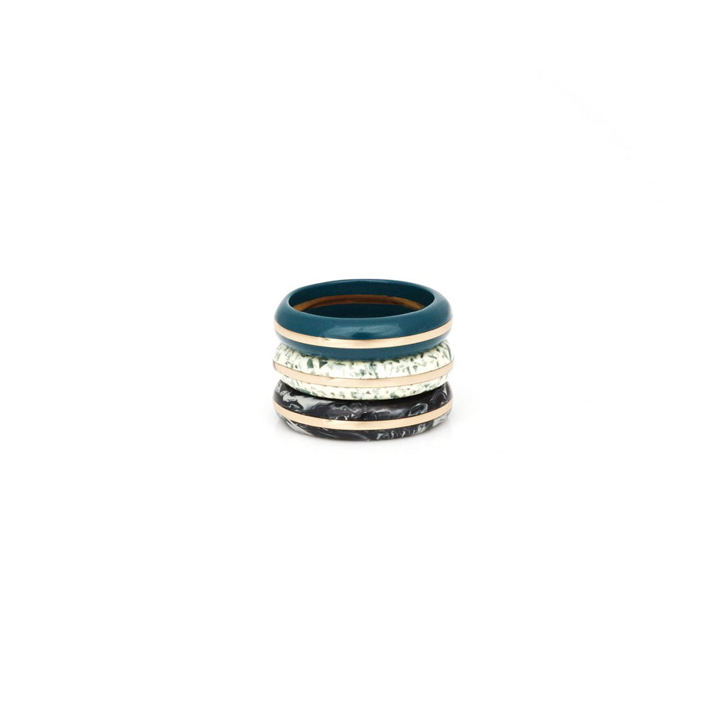 Orbit Stack Ring - China Jade