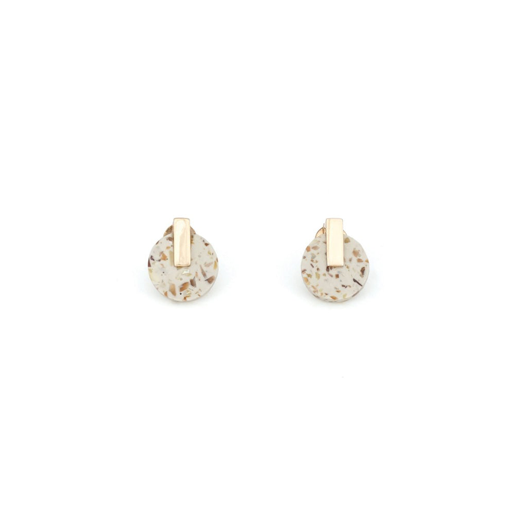 Resonance Stud Earrings - Light Granite