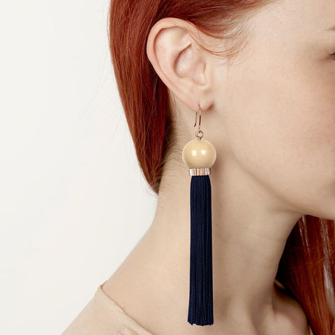 Tremble Tassel Earring - Midnight
