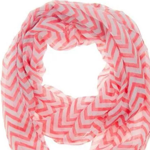 Scarf: Chevron - Strawberry