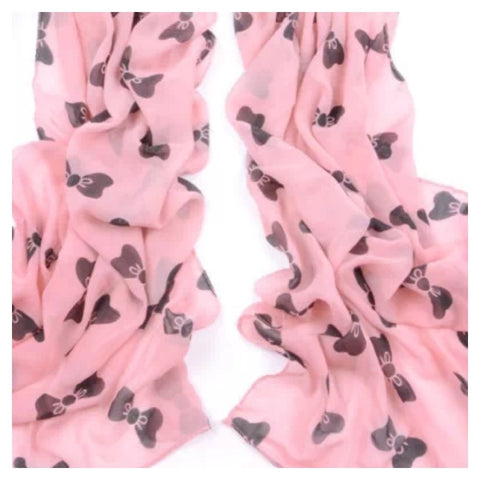 Scarf: Bow - Blush/Black
