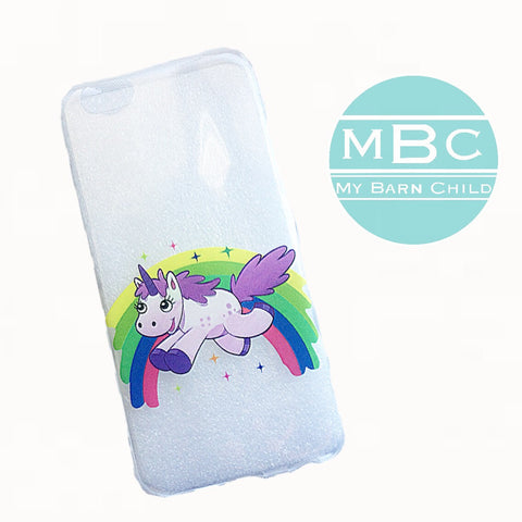 CLEARANCE! Phone Case: Rainbow Unicorn - iPhone 6/6s