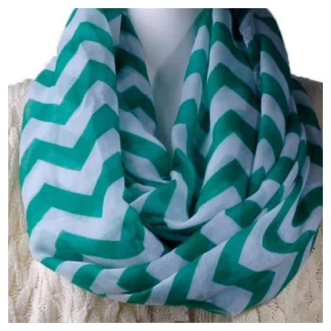 Infinity Scarf: Chevron - Green CLEARANCE!