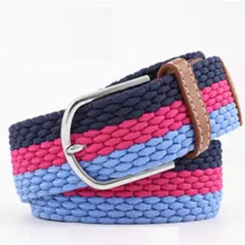 Belt: Comfy Stretchy ~ Navy/Pink/Blue