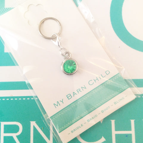 Bridle Charm: Solitaire Crystal ~ Mint