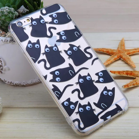 Phone Case: Black Cat with GOOOOOGLEY eyes